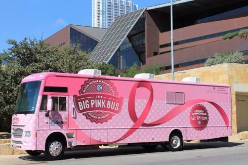 camion rosado